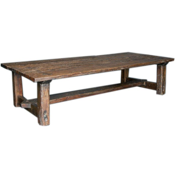 Rustic Tropical Hardwood Coffee Table At 1stdibs