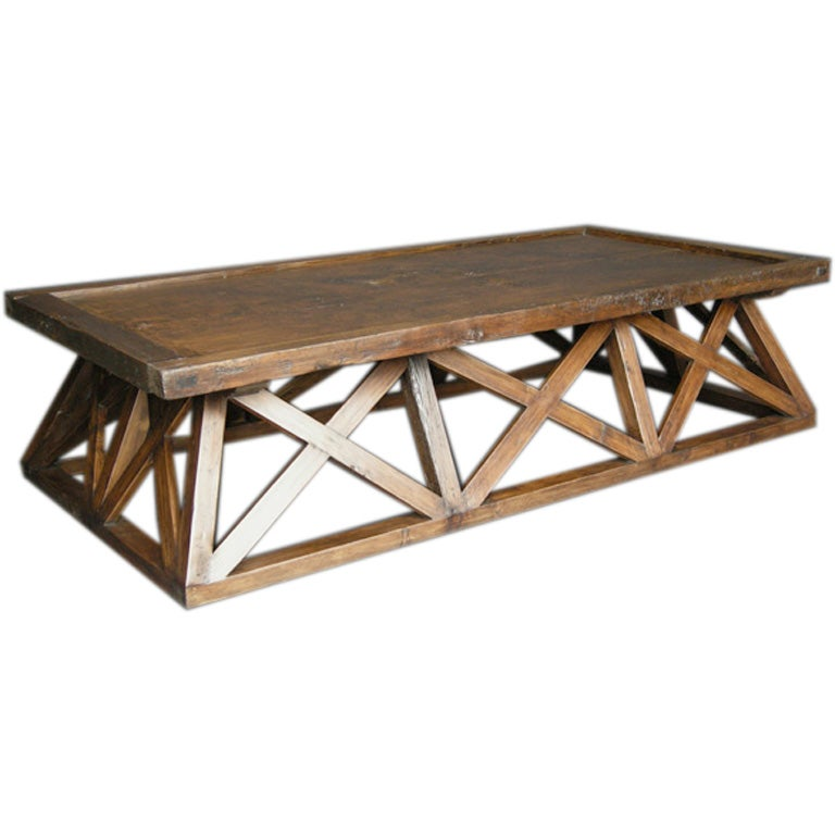 Antique door x coffee table at 1stdibs for X coffee tables