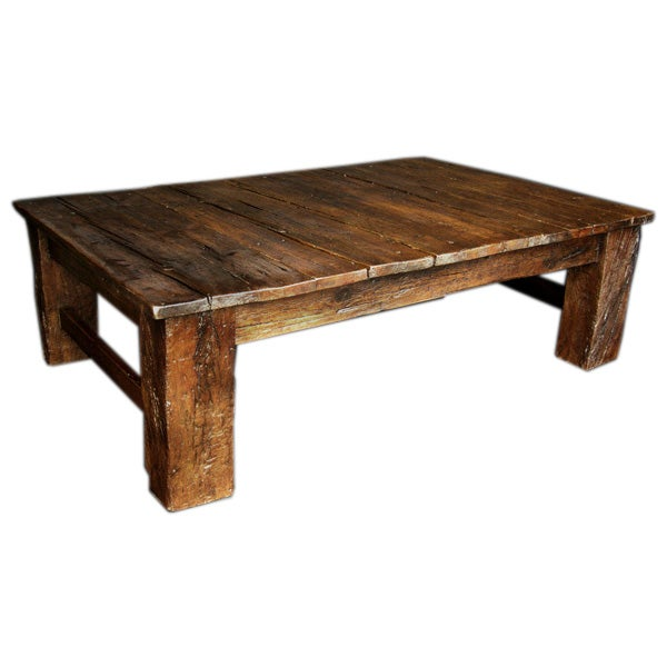Reclaimed Tropical Wood Coffee Table At 1stdibs