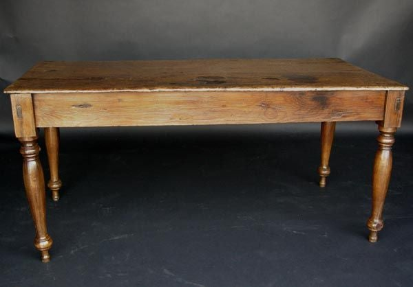 19thc One Wide Plank Top Table At 1stdibs