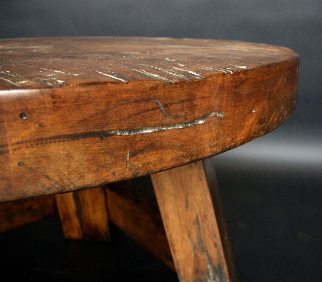 Custom Round Rustic Tavern Coffee Table At 1stdibs