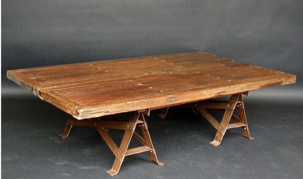 Colonial Door Coffee Table At 1stdibs