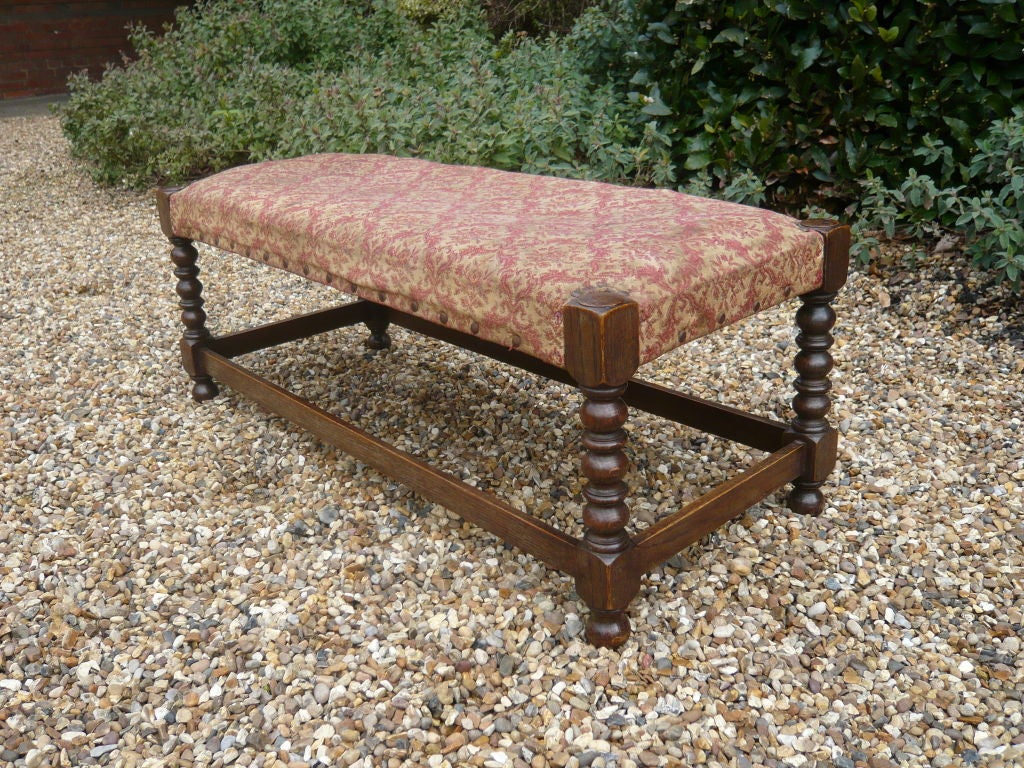 Late 19th Century Long Stool By James Shoolbred At 1stdibs