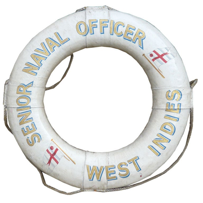 "Royal Navy Life Preserver ""Senior Naval Officer, West Indies"" 1"