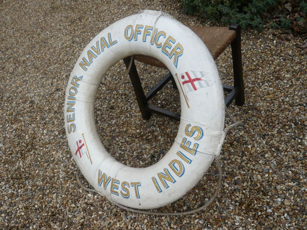 "Royal Navy Life Preserver ""Senior Naval Officer, West Indies"" 3"