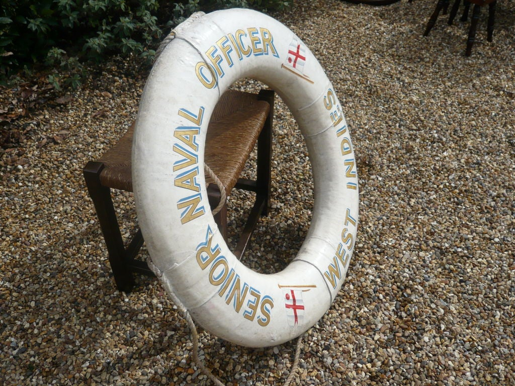 "Royal Navy Life Preserver ""Senior Naval Officer, West Indies"" 2"