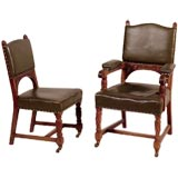 Signed Set of Eight Arts and Crafts Chairs