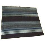 Hand Woven Indigo Dyed Ashanti Stripe Textile