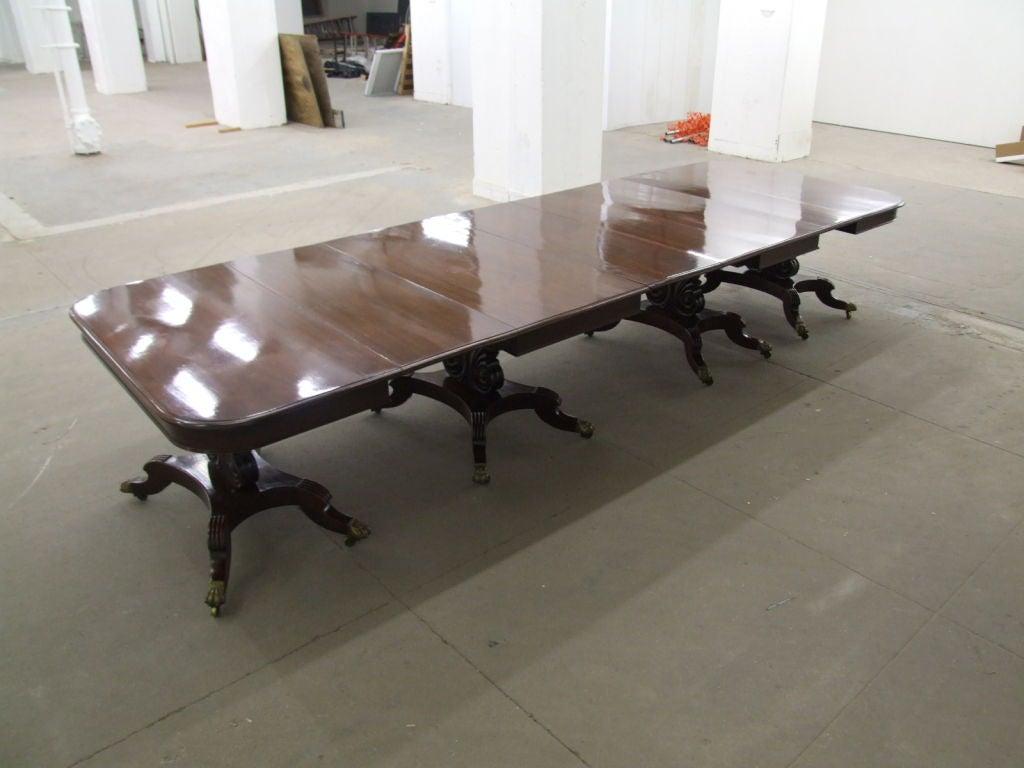 Impressive Neoclassical Four Pedestal Banquet Table 4