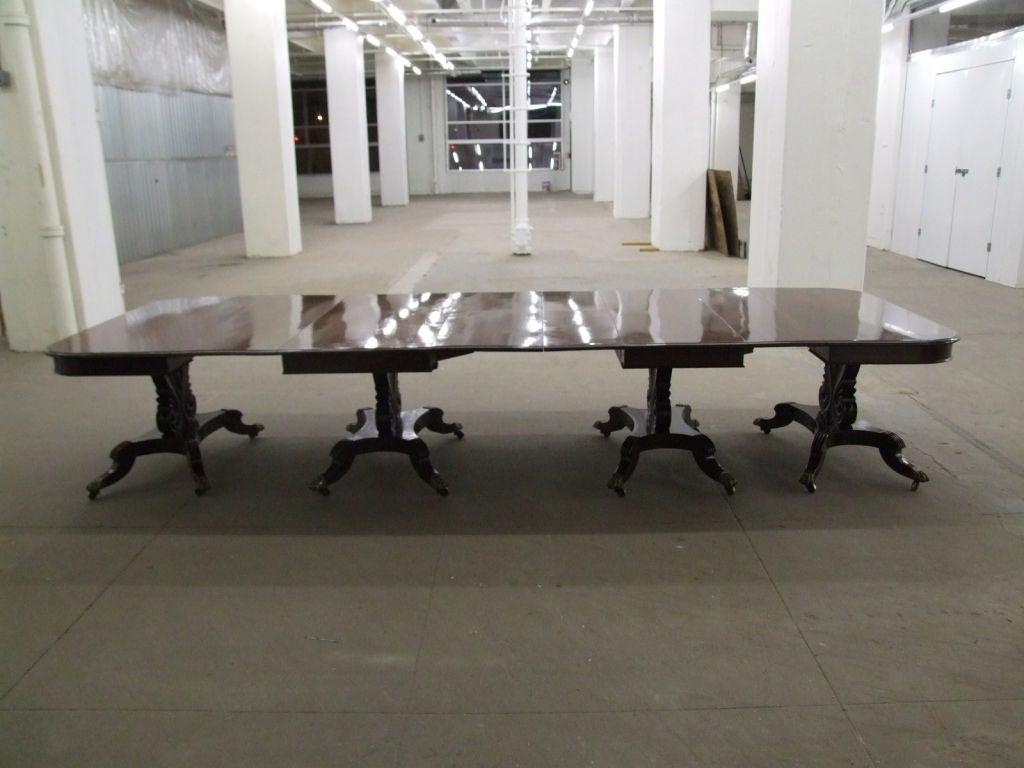 Impressive Neoclassical Four Pedestal Banquet Table 3