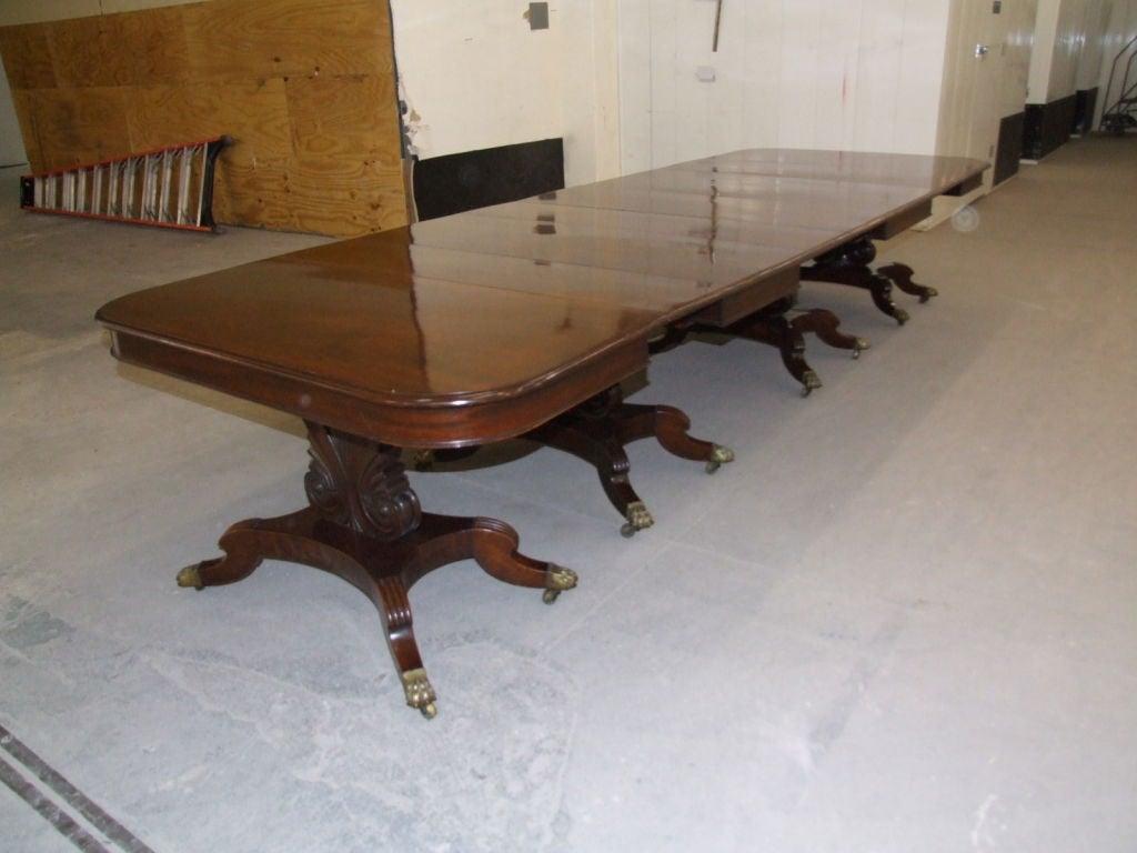 Impressive Neoclassical Four Pedestal Banquet Table 2