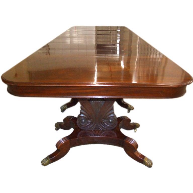Impressive Neoclassical Four Pedestal Banquet Table 1