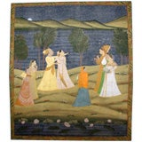 Decorative Large Scale Indian Courting Painting