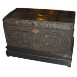 Late 17th/Early 18th Century Studded Leather Travel Chest