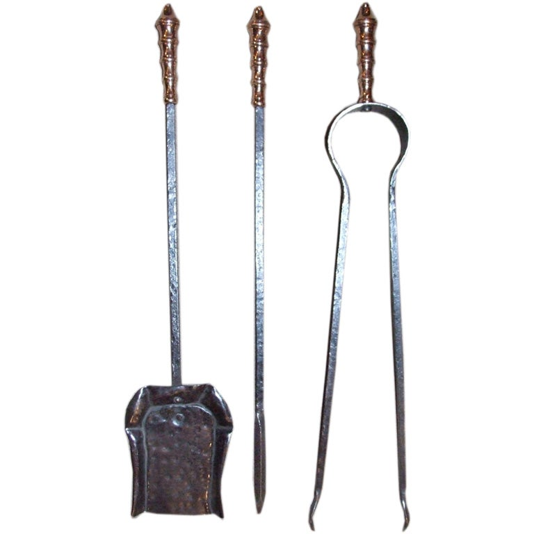 Set of arts and crafts fire tools at 1stdibs for Arts and crafts tools