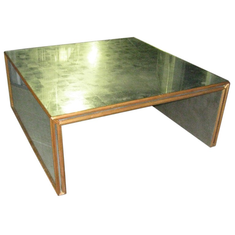 Oversized Silver Leaf Coffee Table At 1stdibs