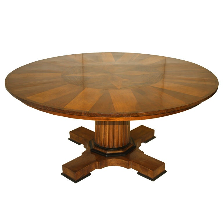 Dining table furniture contemporary dining table pedestal for Dining room table pedestal bases