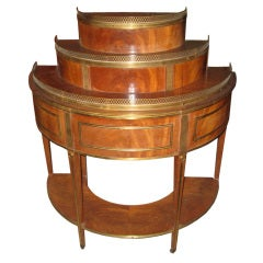 Russian Neoclassical-Style Demilune Etagere
