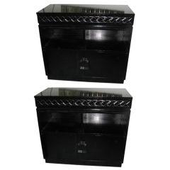 A Pair of Mid Century  Ebonized Cabinets