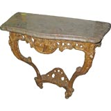 Regence-Style, Giltwood, marble-top console