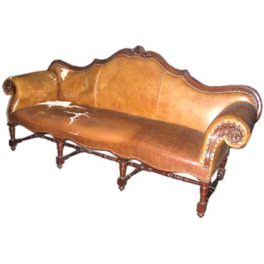Unusual Sofa: Unusual And Whimsical Tufted Leather Sofa At 1stdibs