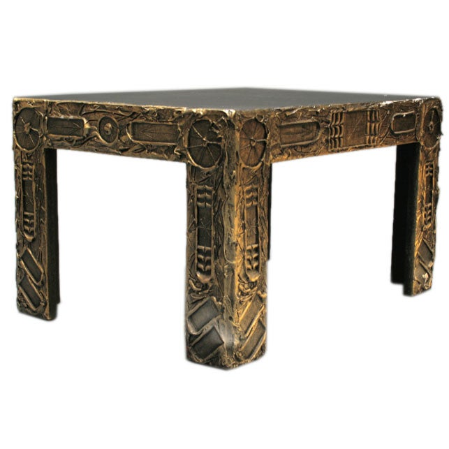 """""""Art Brut"""" Lamp Table in the style of Paul Evans at 1stdibs"""