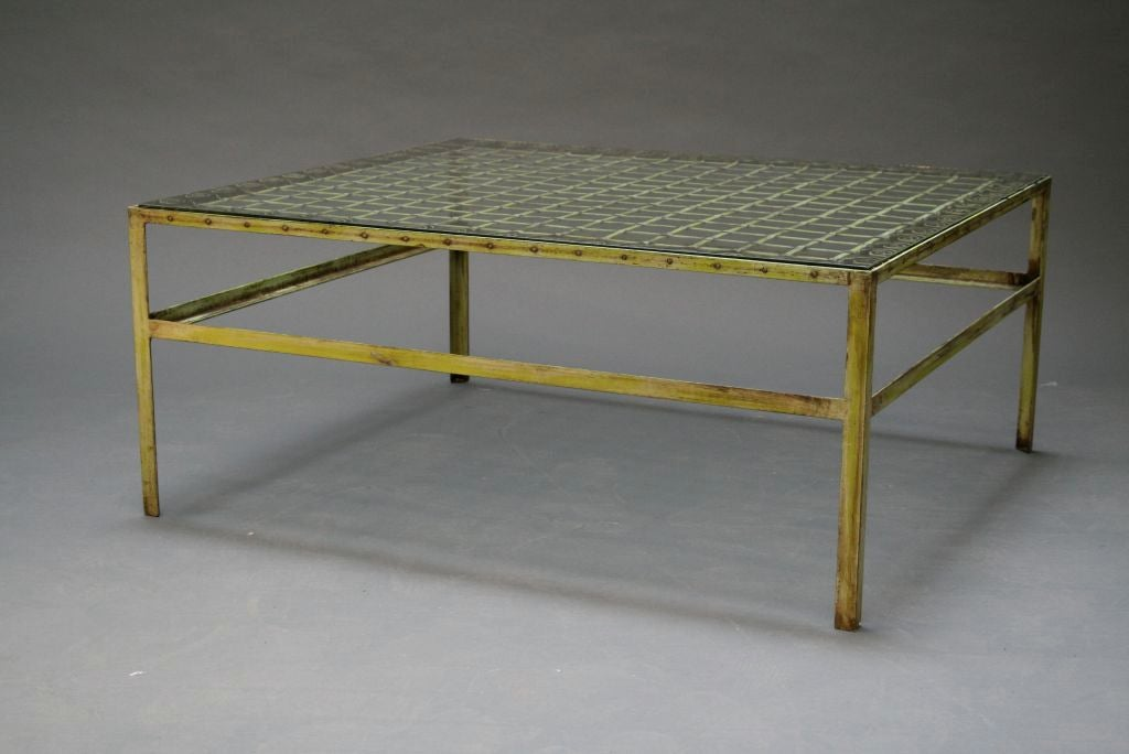Wrought Iron Patio Coffee Table At 1stdibs