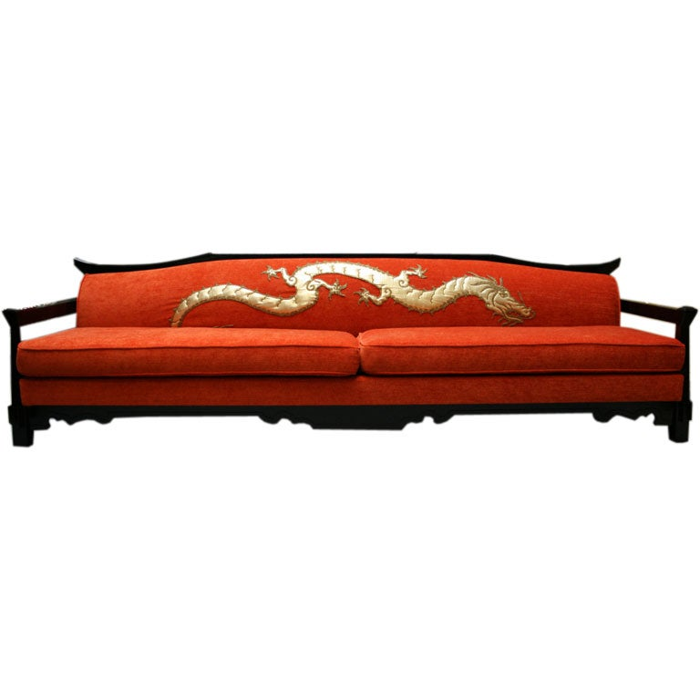 Fine Chinoiserie Dragon Sofa At 1stdibs