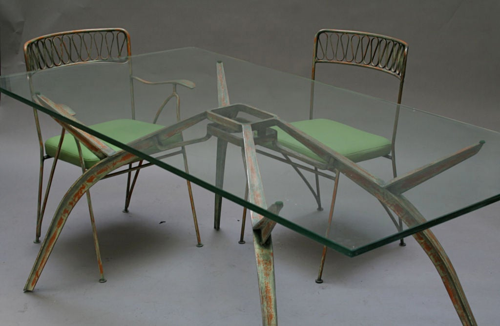 Salterini Patio Wrought Iron Dining Suite At 1stdibs