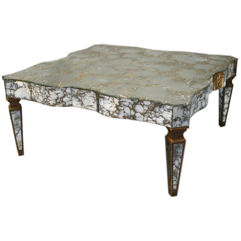 Antiqued Mirror Coffee Table At 1stdibs