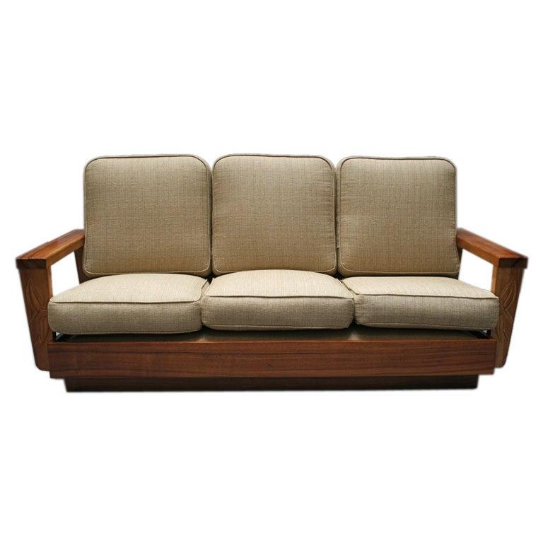 Solid Koa Wood Sofa From Hawaiian Islands At 1stdibs