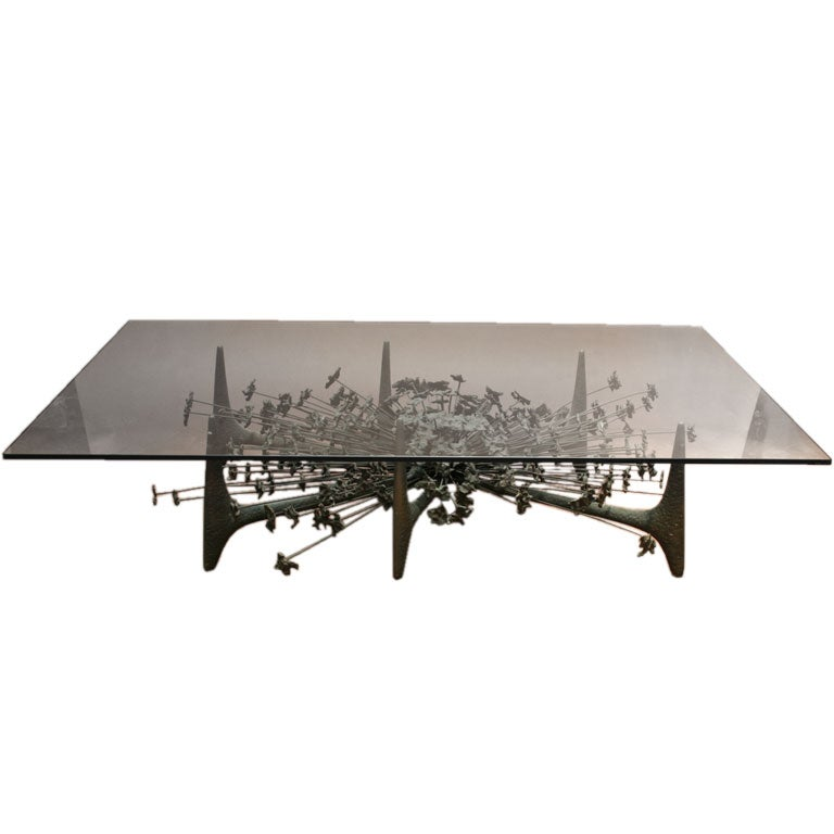 Coffee table in the style of harry bertoia at 1stdibs - Bertoia coffee table ...