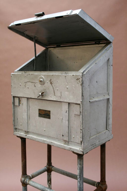 Small Portable Industrial Desk at 1stdibs