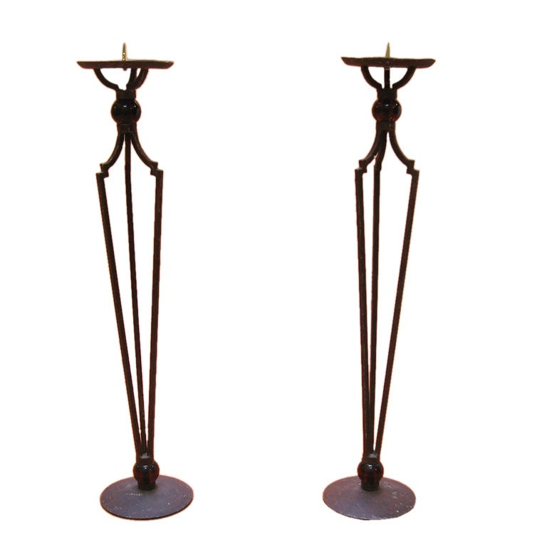 pair of floor candle holders at 1stdibs