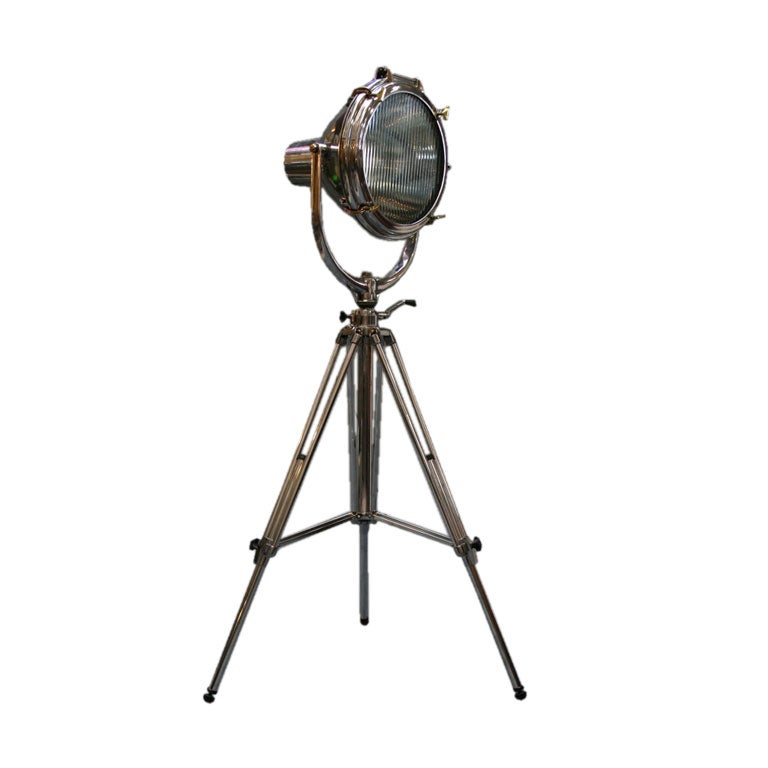 All aluminum crouse hinds standing spotlight at 1stdibs for Floor standing spotlight lamp