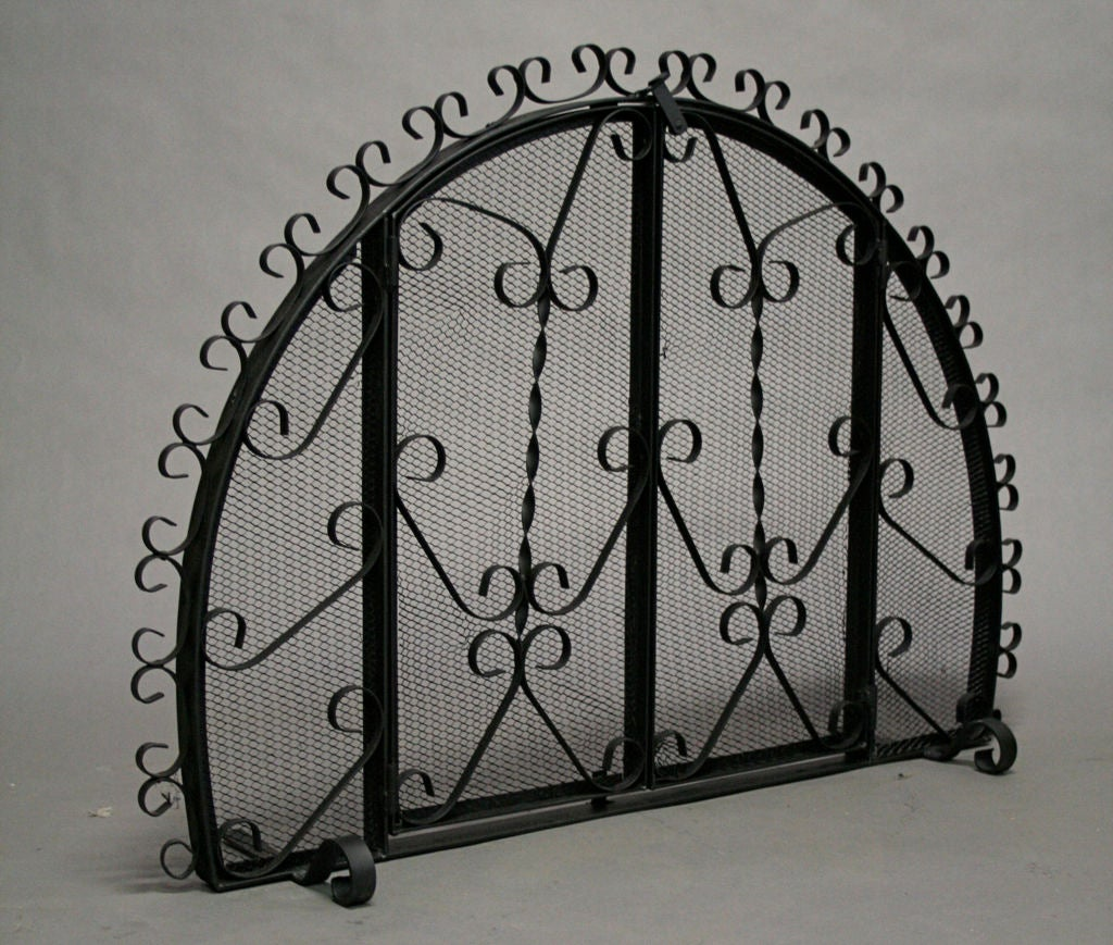 Wrought Iron Fire Screen At 1stdibs