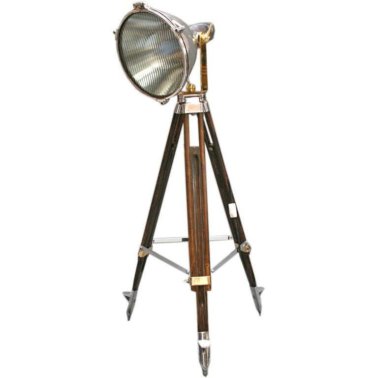 Handsome spotlight on tripod by general electric at 1stdibs - Tripod spotlight table lamp ...