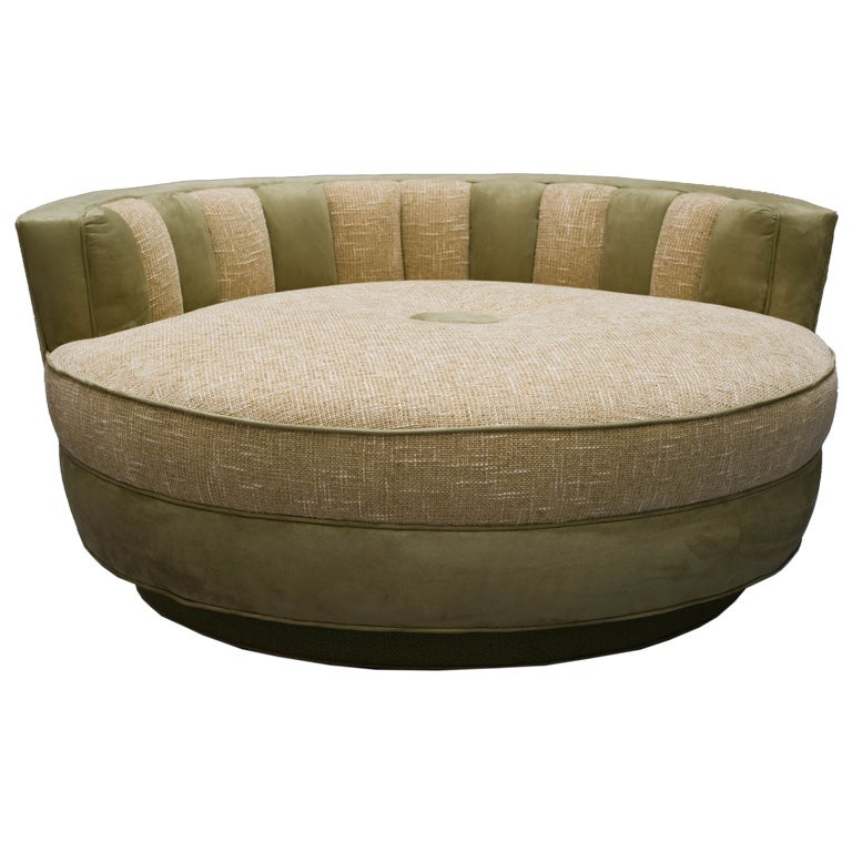 fantastic large round pouf chaise. Black Bedroom Furniture Sets. Home Design Ideas