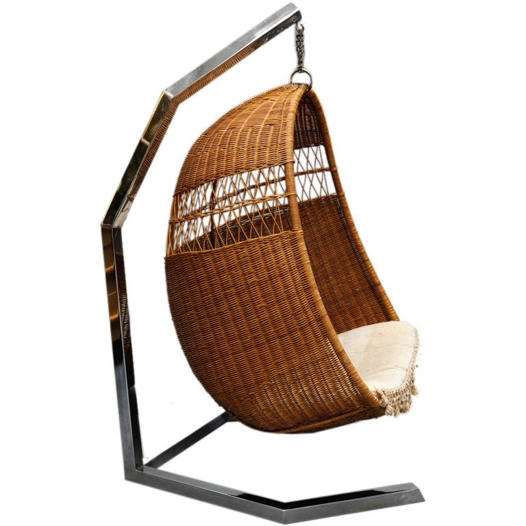 70 S Wicker Sling Chair At 1stdibs