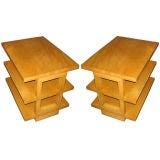 Pair of 3-Tier End Tables by Dunbar