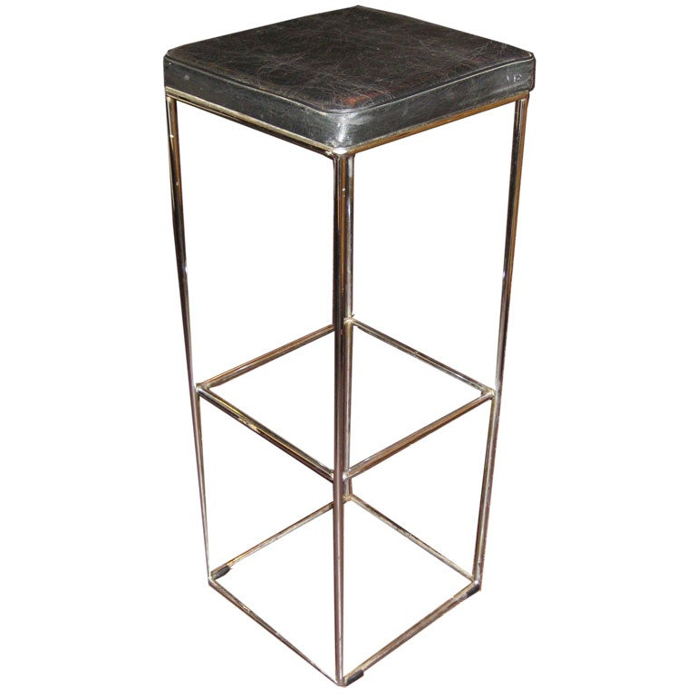 Pair Max Sauze Chrome Bar Stools For Sale At 1stdibs
