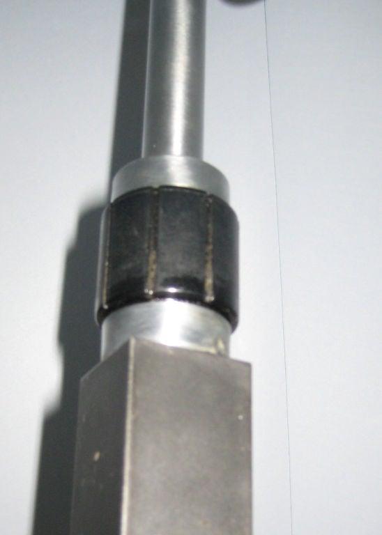 American Hansen Aluminum and Enameled Brass Floor Lamp For Sale