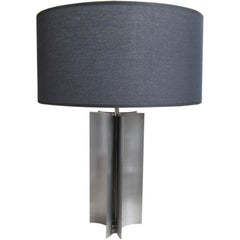 Brushed Steel Table Lamp