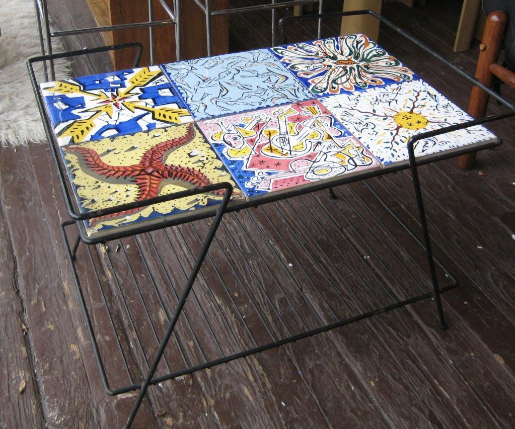 Rare Pair Salvador Dali Tile Side Tables At 1stdibs