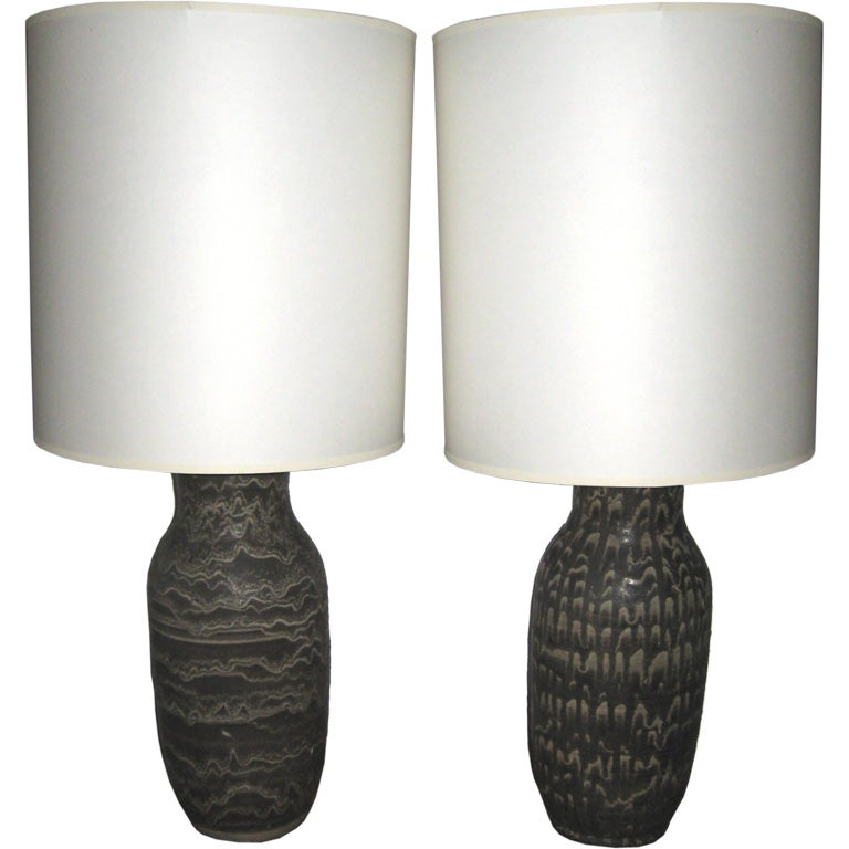 Complimentary Pair of Lamps by Design Technics