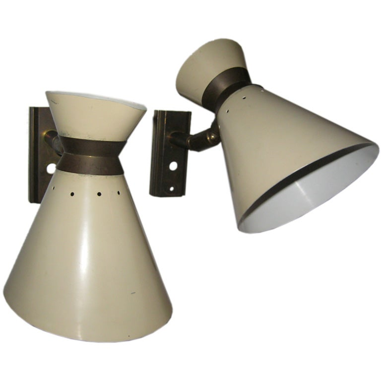 Pair of French Sconces, circa 1955 For Sale