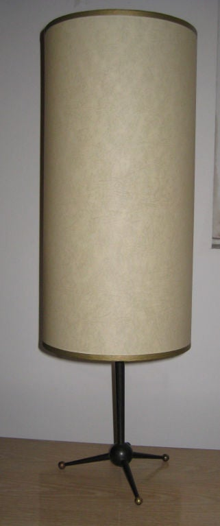 Modernist French Metal and Brass Table Light 2