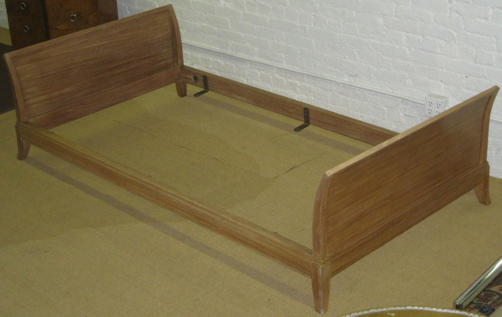 Cerused mahogany daybeds signed 'Charak Modern'.