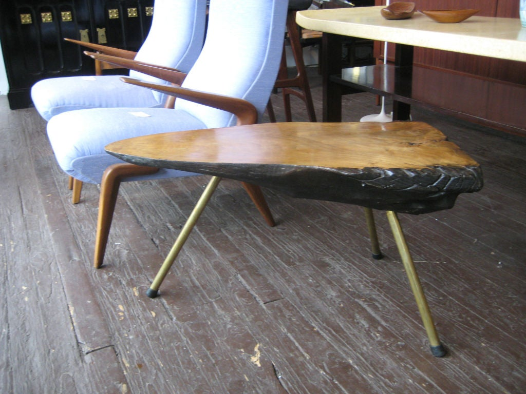 Carl Aubock Tree Trunk Coffee Table at 1stdibs