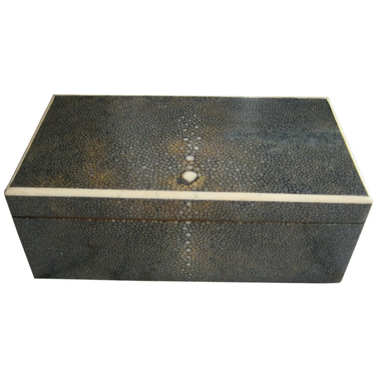 French Art Deco Shagreen Box